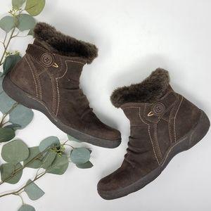 BARETRAP Leather Faux Fur Ankle Boots Booties 7.5